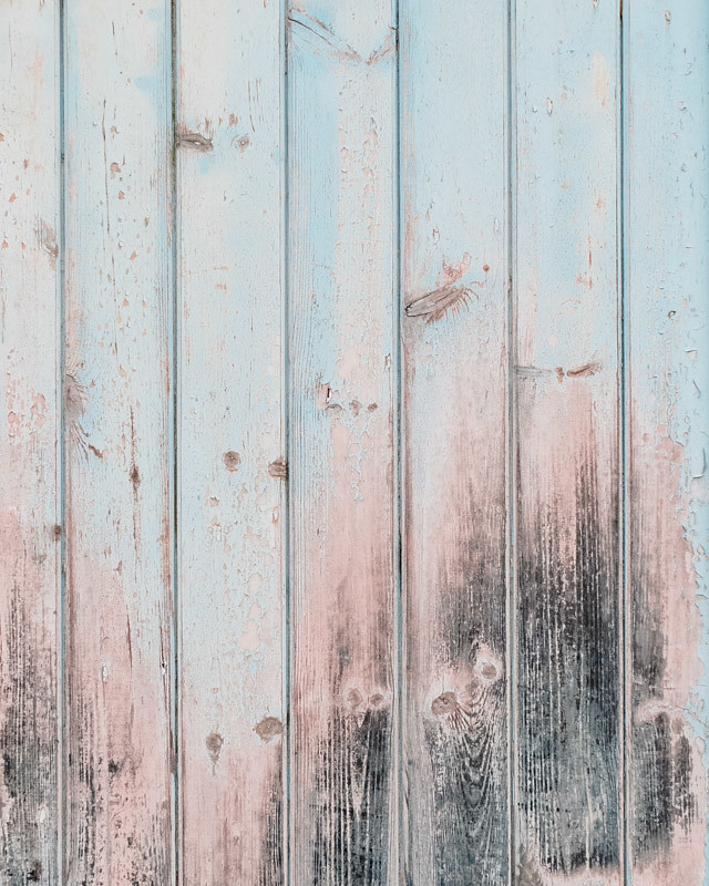 faded pastel colours on garden gate