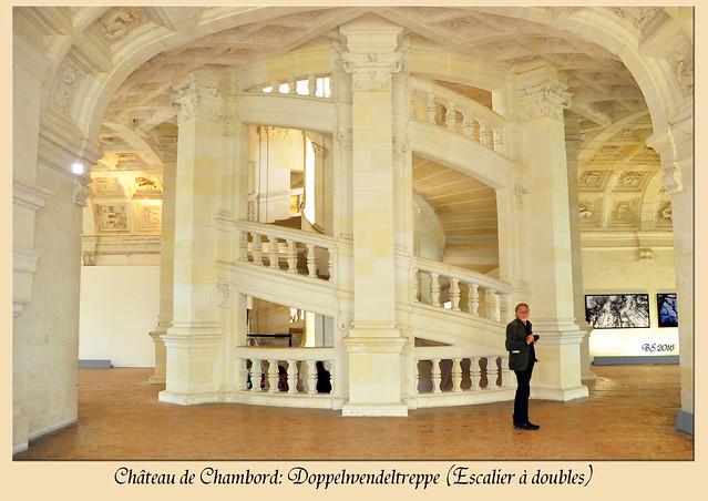 Schlösser der Loire - Château de Chambord - Schloss Chambord - Doppelwendeltreppe - Renaissance - Leonardo da Vinci - Foto: Brigitte Stolle 2016