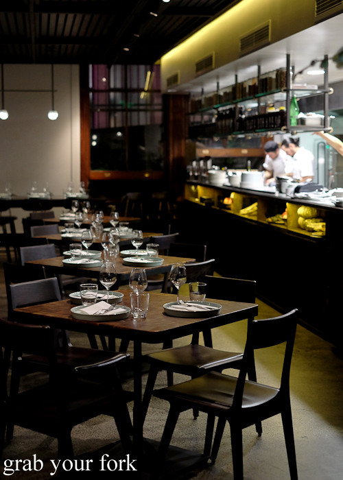 Dining room at Mercado restaurant, Sydney