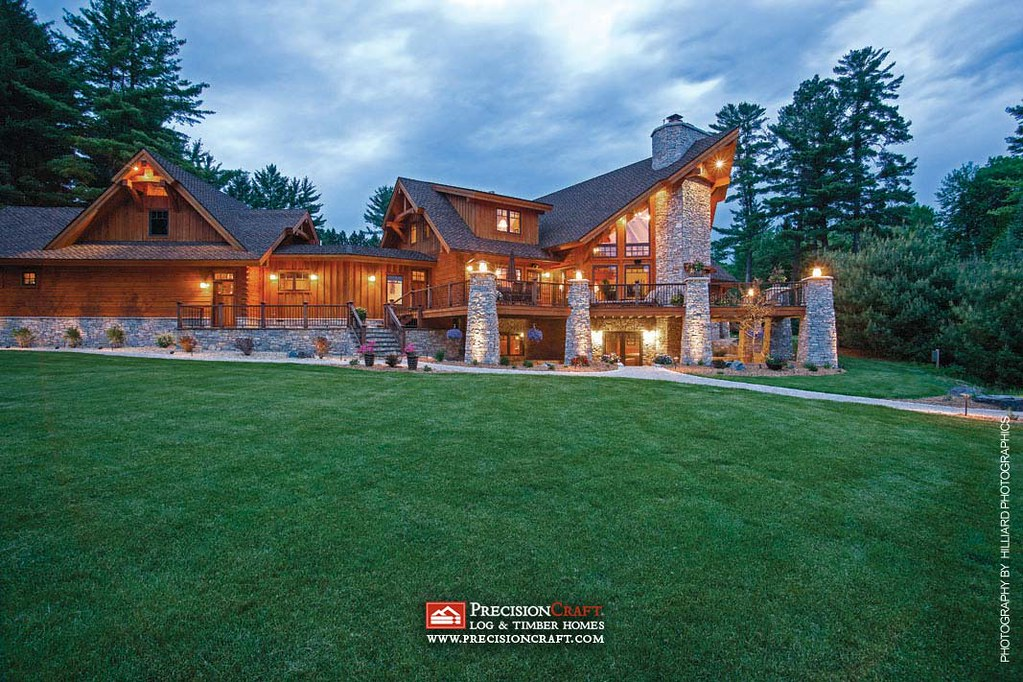 Wisconsin Log & Timber Home Exterior