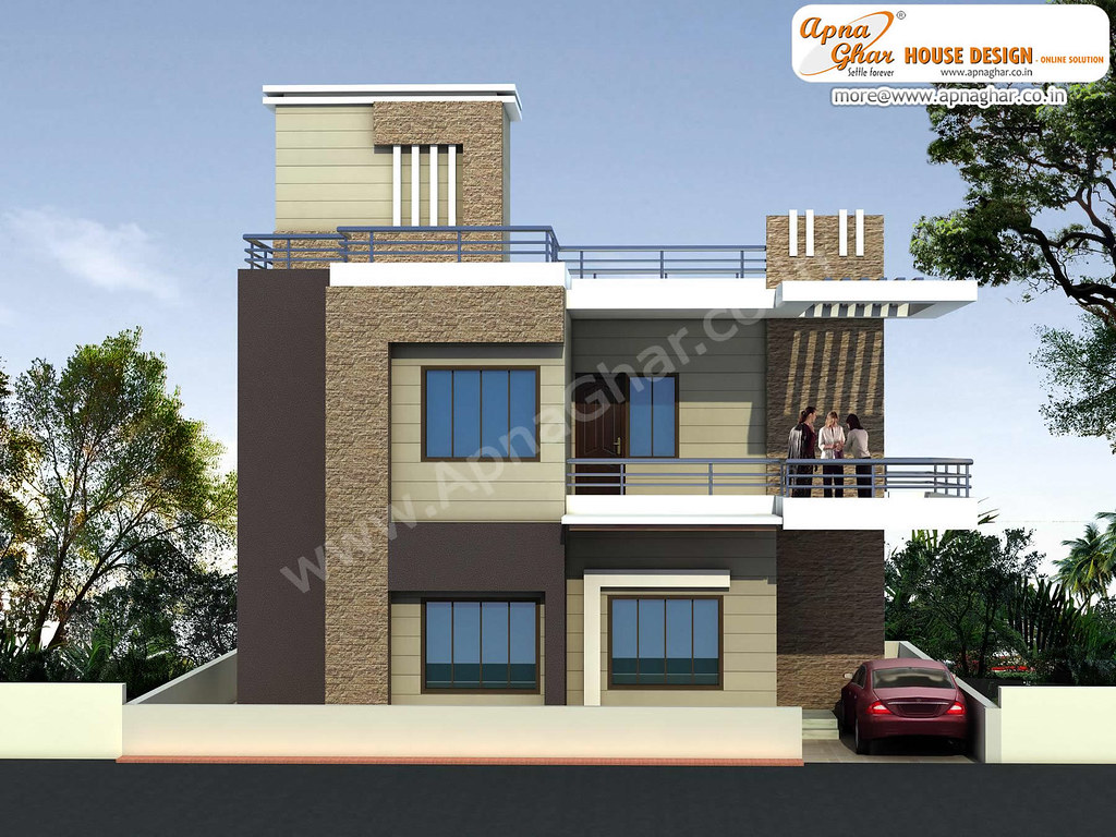 Apnaghar House Design: Modern Beautiful Duplex House Design