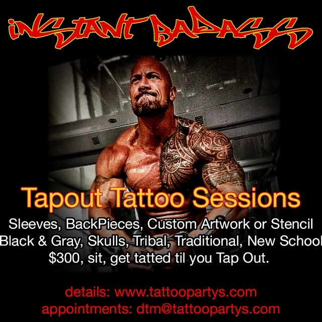 instant badass recipe tattoo tapout sessions now open w