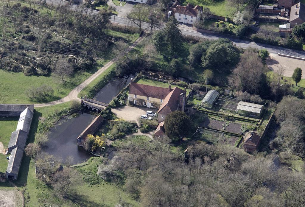 Tolleshunt D Arcy Hall In Essex Aerial Of Tolleshunt D