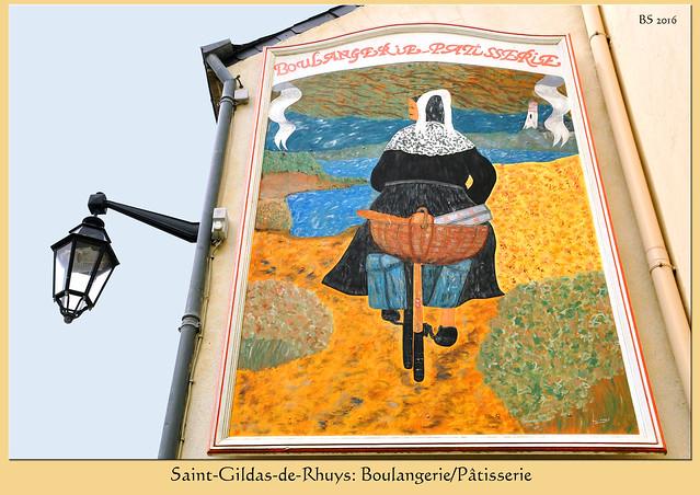 Saint-Gildas-de-Rhuys: der Bäcker (boulanger) und sein Brot (pain) Foto: Brigitte Stolle 2016