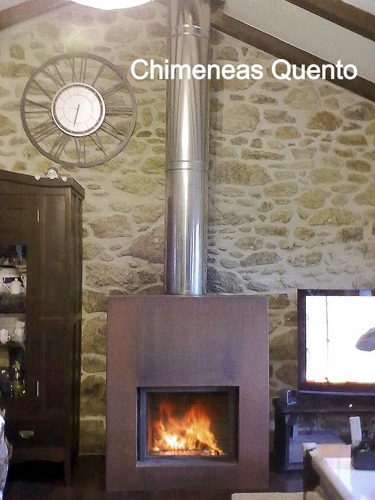 Chimenea quento con stuv 85 y carcasa corten - Chimeneas quento ...