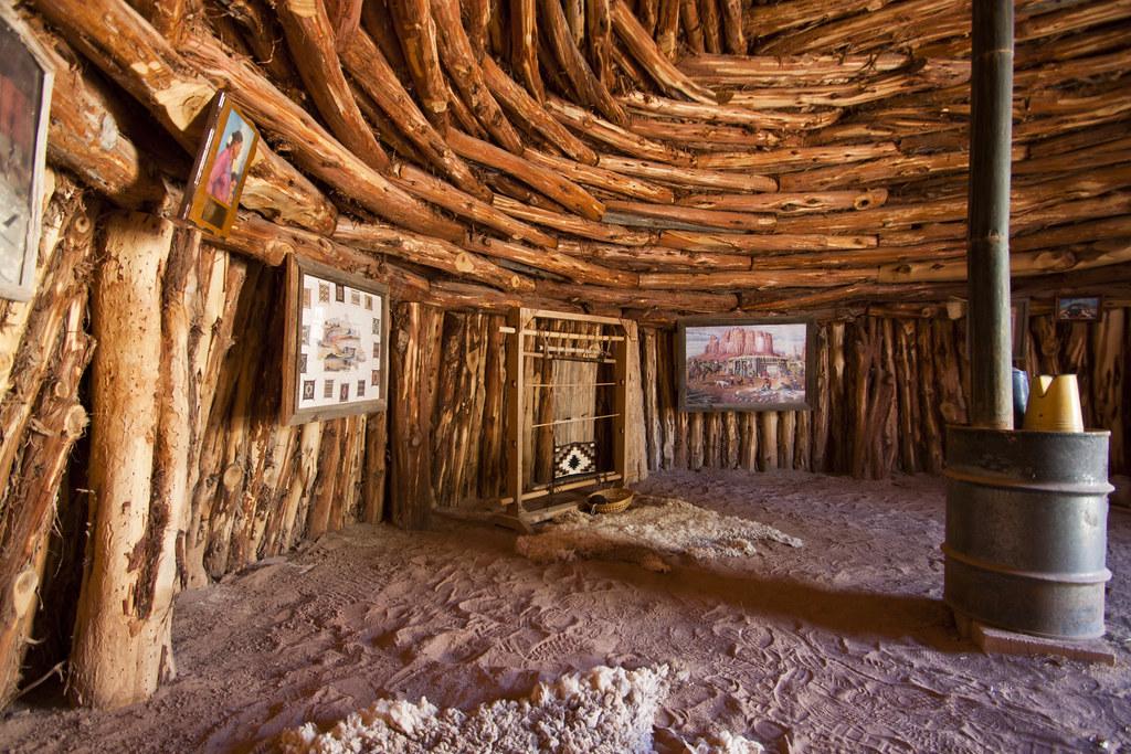 Bluff Fort Navajo Hogan Interior Traditional Navajo