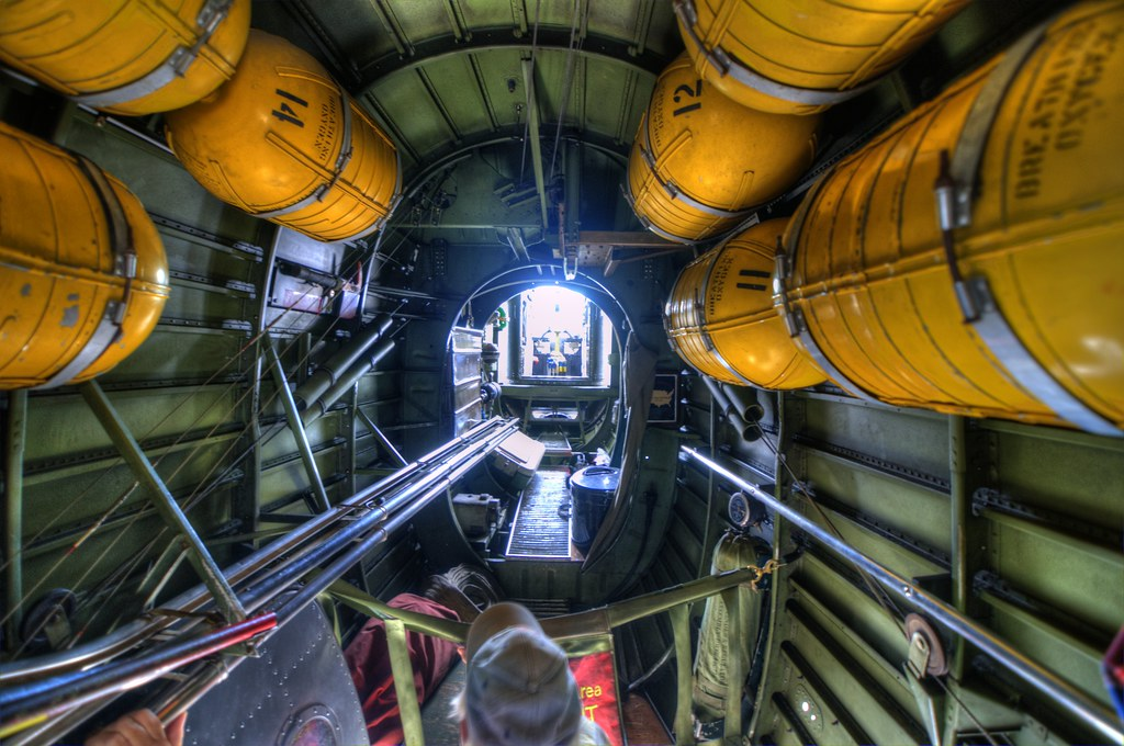 Oxygen Tanks In B 24 Liberator At The Collings