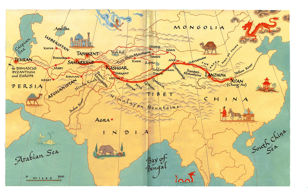 a report on the xian silk road and the expansion of silk trade The silk route was a historic trade route that dated from the second century bc  until  had a monopoly on silk production until the secrets of its creation spread   routes to connect places as distant as belgium and kenya, tehran and xi'an,.