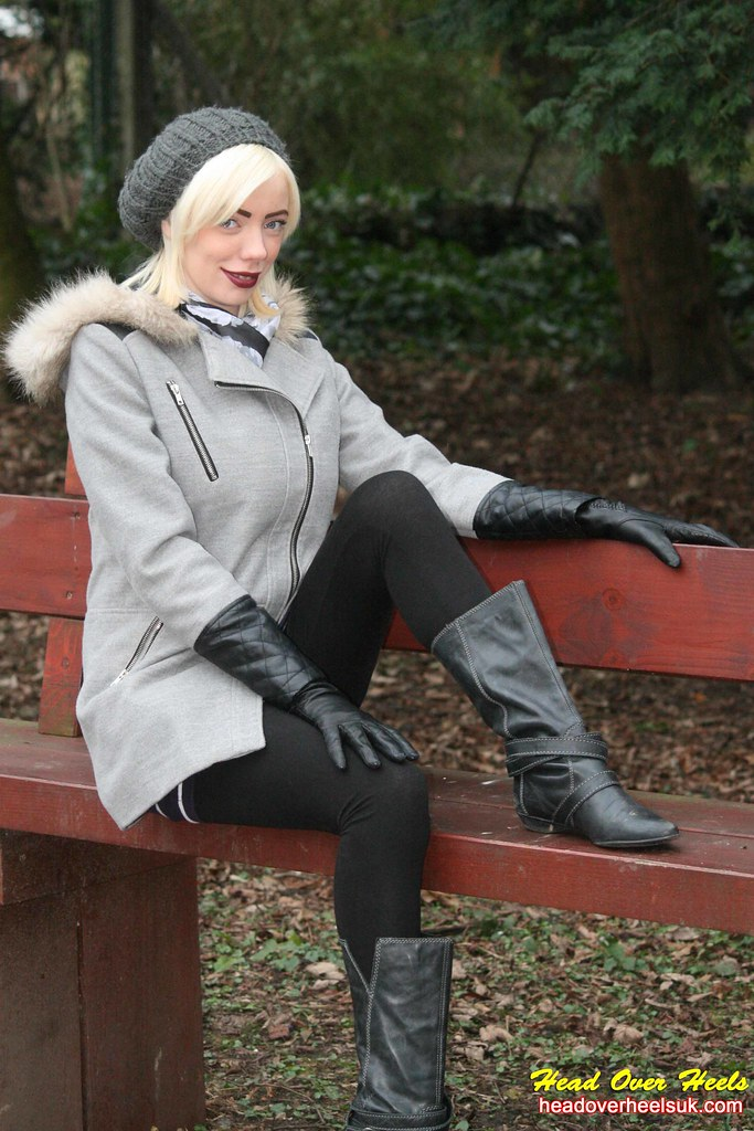 Sophie in leather boots and gloves | Street Boots ...