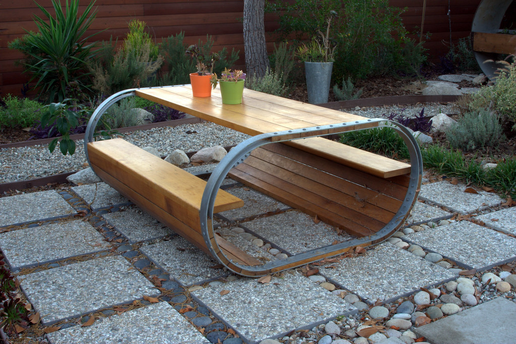 Baril Picnic Table A Inspired By Wine
