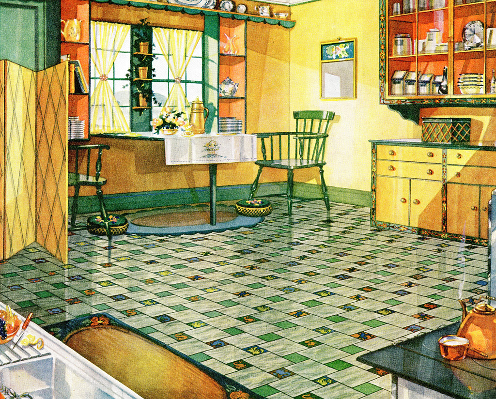 armstrong linoleum 1929 don o 39 brien flickr. Black Bedroom Furniture Sets. Home Design Ideas