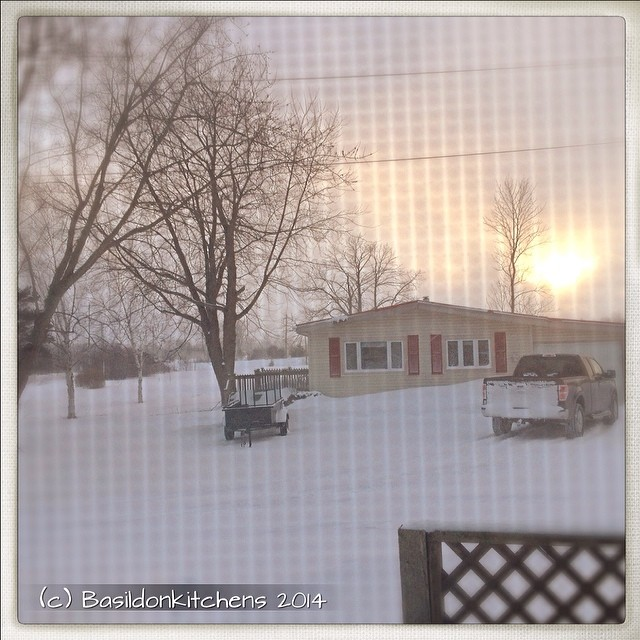 26/2/2014 - next door {my next door neighbor; as seen from my window. I just got home and don't want to go out again - brrrrr} #photoaday #nextdoor #winter #weather #snow #squall