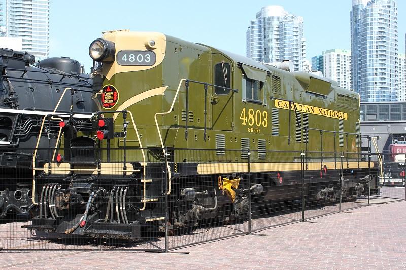 emd gp7 canadian national gp7 number 4803 preserved at toronto flickr