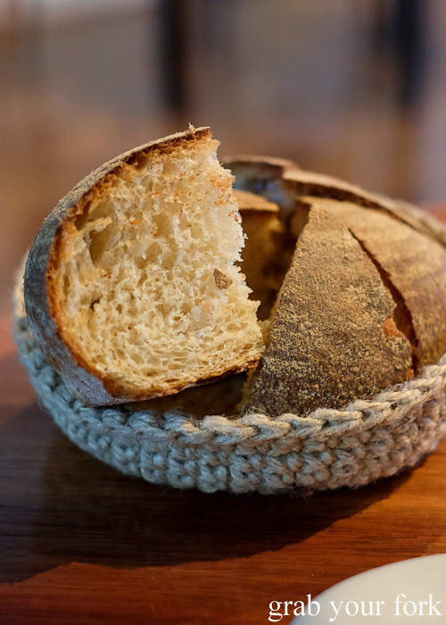 House-made sourdough at Restaurant Orana, Adelaide