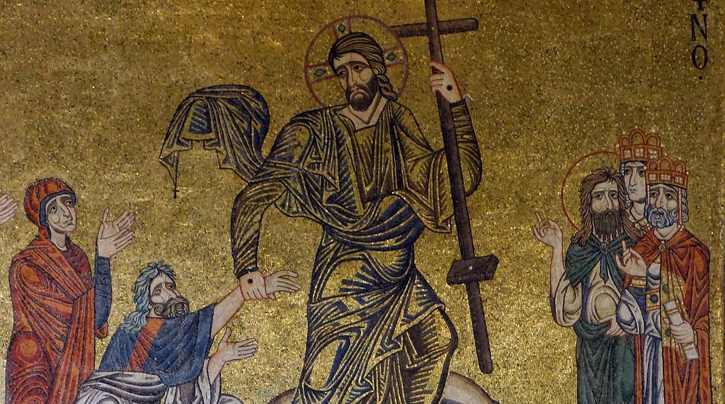 Photos Photos And More Photos >> Detail of Christ, Anastasis mosaic, Saint Mark's Basilica,… | Flickr