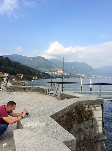 lake como on a road trip from England to Italy