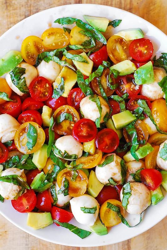 tomato salad, healthy salad, gluten free salad, Summer salad