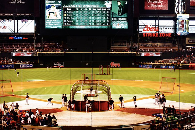 Batting Practice @ Chase Field