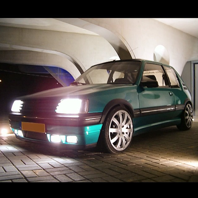 griffe 205 turbo with 309 gti front spoiler peugeot 205 flickr. Black Bedroom Furniture Sets. Home Design Ideas