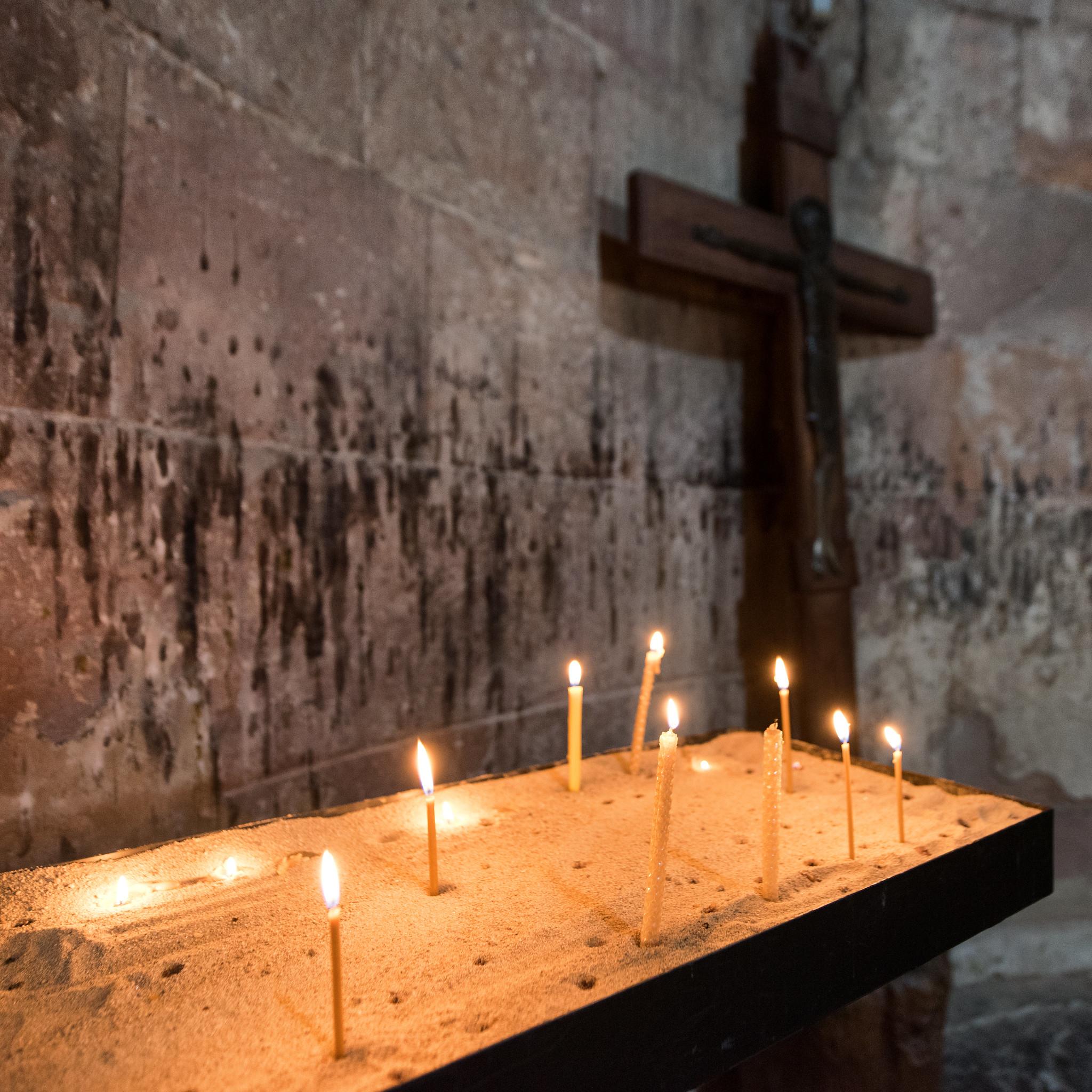 Jvari Monastery Candles