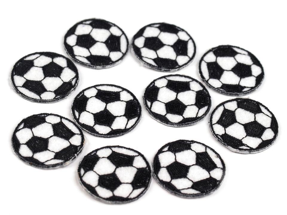 Patch Fussball, schwarz