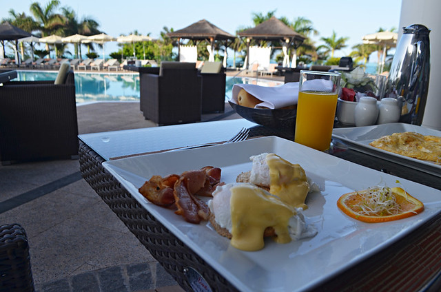 Breakfast by the pool, Hotel Buffet,Gran Melia Palacio de Isora, Costa Adeje, Tenerife