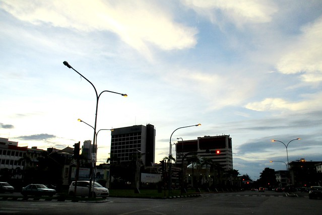 Evening at Sibu town