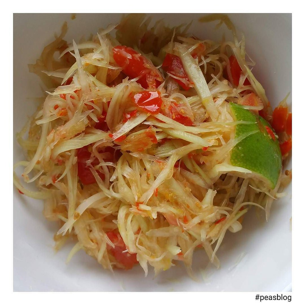 spicy papaya salad peasblog glutenfree grainfree la