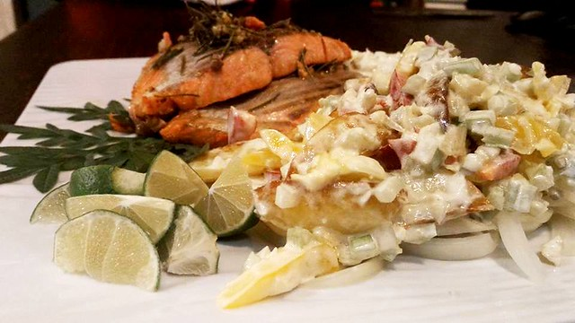 Salmon Platter at Payung Cafe 2
