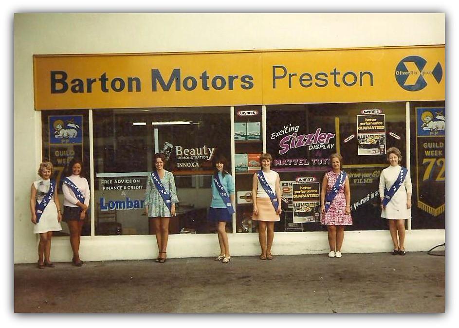 Barton Motors Staff 1972 Preston Guild Image Courtesy