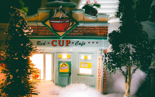 Coffee Shop Christmas Village