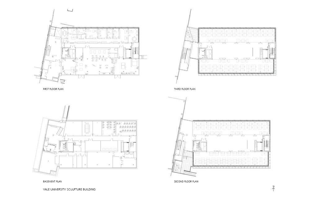 楊恩達綠建築專欄 耶魯大學雕塑教學大樓及藝廊空間複合設施 Drawings 04 準建築人手札網站