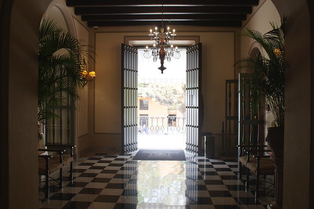 Open doors at El Convento Hotel