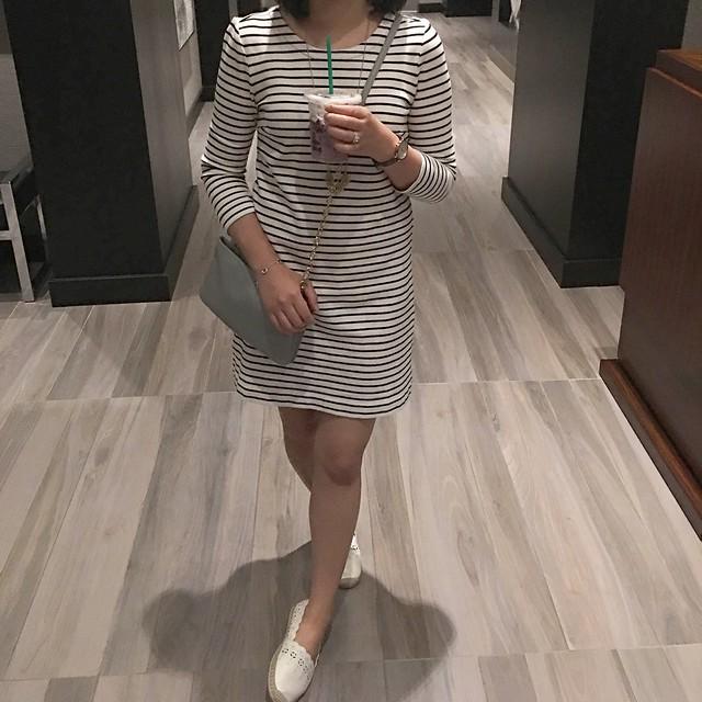 J.Crew Factory striped knit dress