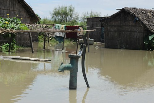 Submerged drinking water sources. (Photo source: Jhai Foundation)