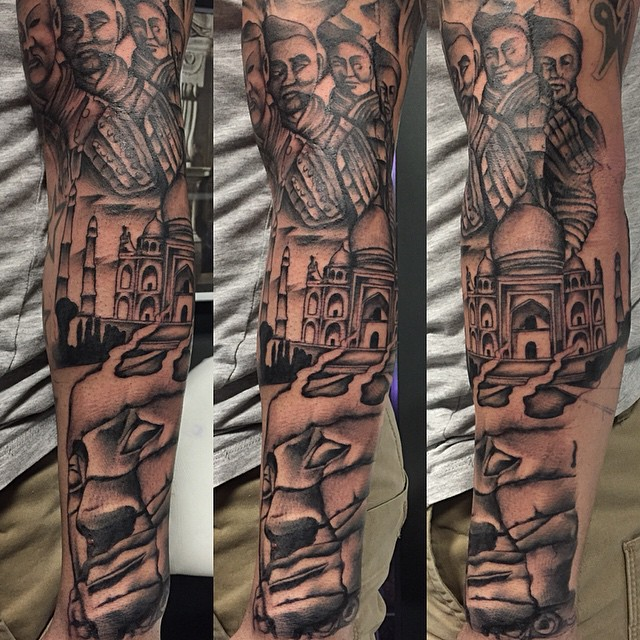 more on this travel inspired sleeve. enjoying this one. da