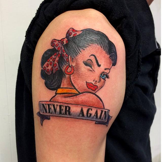 Small X Files Tattoo: Bettie Tattoo From A X-files Episode. The Talking Tattoo