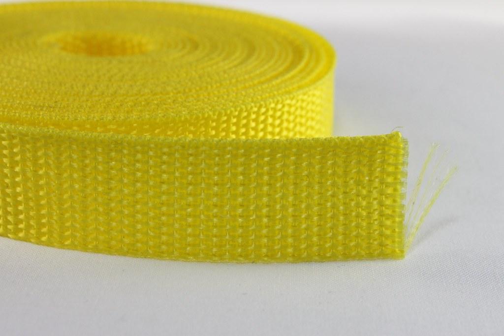 Gurtband 20mm hellgelb