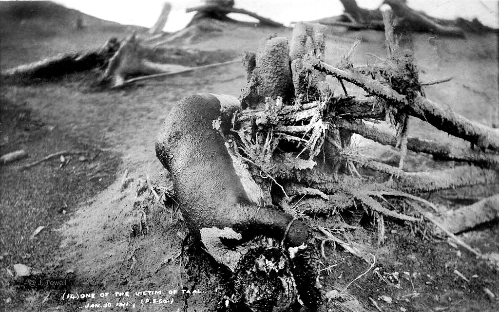 Taal Volcano Jan 30 1911 Eruption Victims South Of Mani