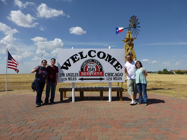 halfway point of route 66 in adrian texas