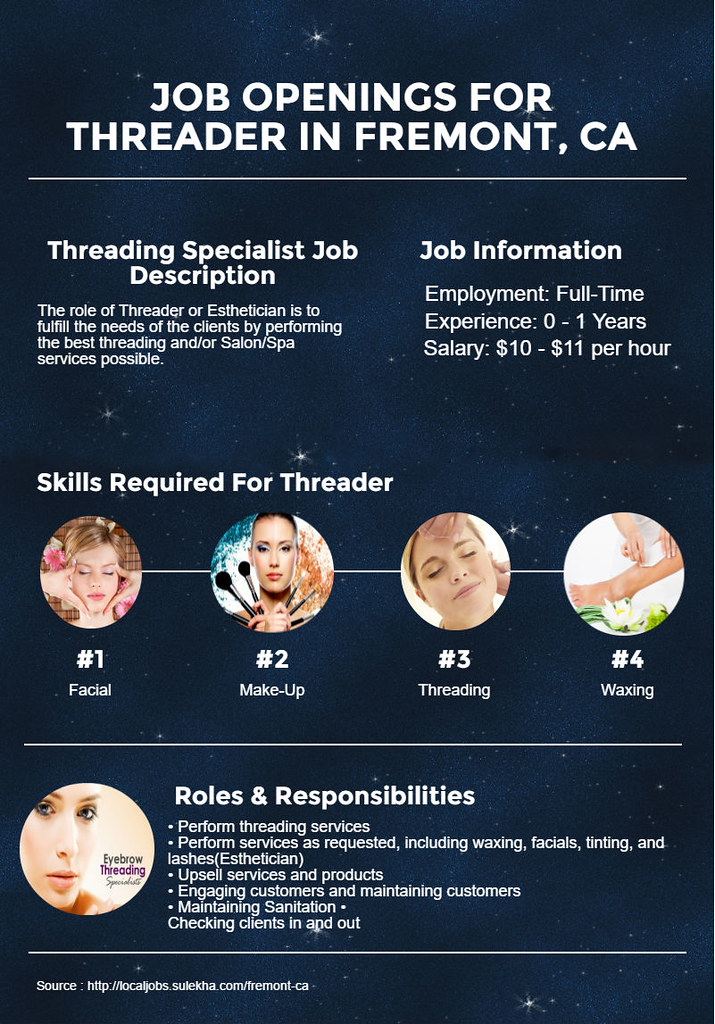 Job Openings For Threading Specialist In Fremont Ca Flickr