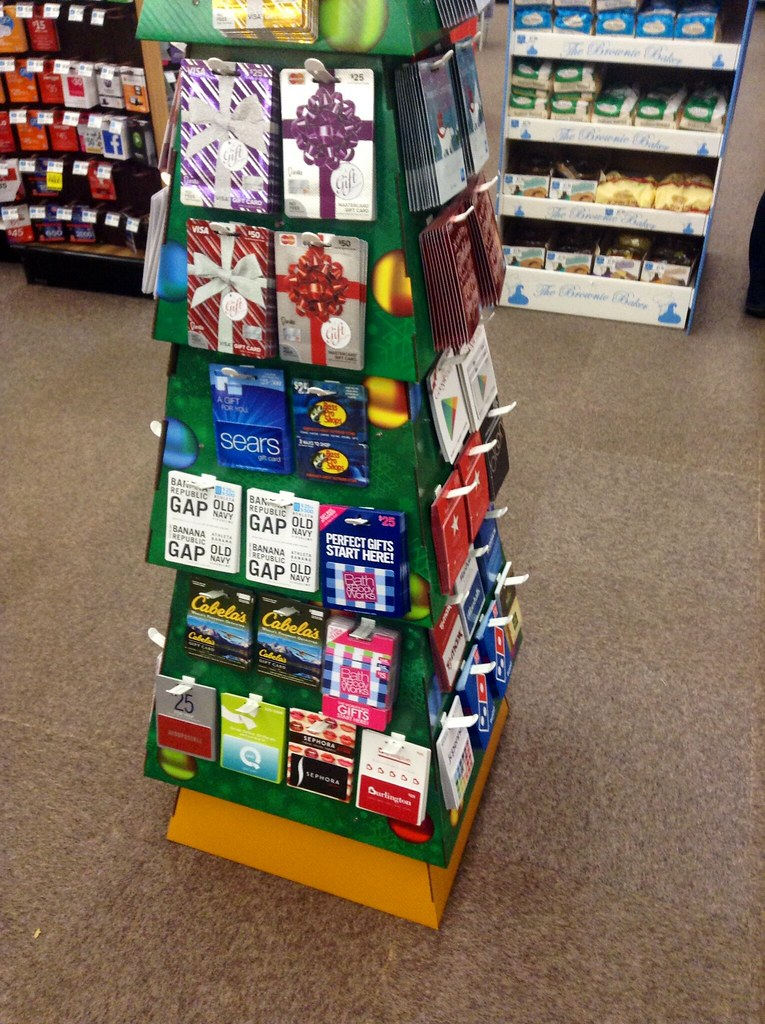 Gift Card Display, Christmas Tree Design, at Rite Aid 2014… | Flickr