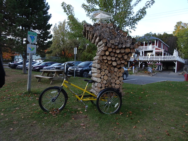 Sculpture on a Bicycle
