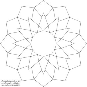 Coloring pages of lotus