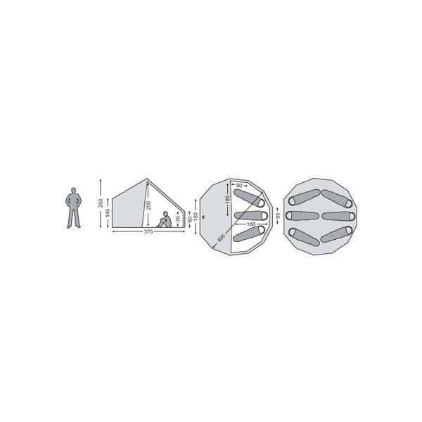ノルディスクーNORDISK アスガルド12.6 6人用テント 2014年以後モデル