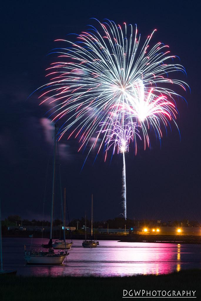 Fireworks over Short Beach