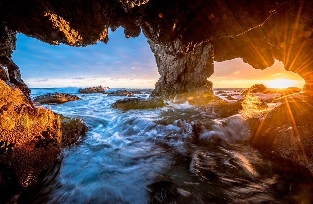 Malibu Sea Cave Sunset El Matador Beach Nikon D810 Hdr L