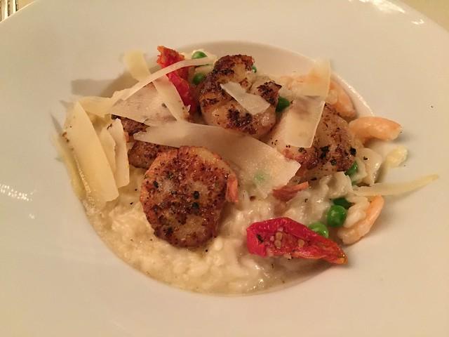 Hokkaido scallop and shrimp risotto - Lavender Bistro