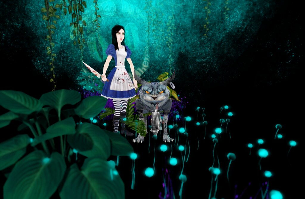 Creepy Alice and cat
