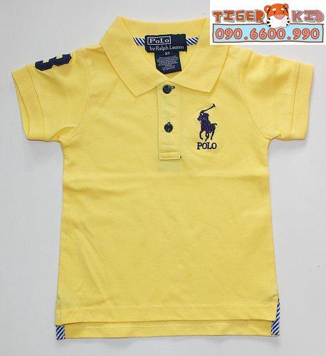 Áo thun Polo bé trai VNXK thun cotton 100% 1T-7T